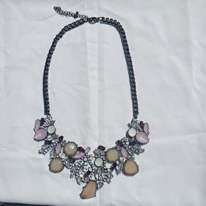 Purple tones statement necklace